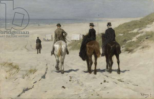 Morning Ride along the Beach, 1876 (oil on canvas)