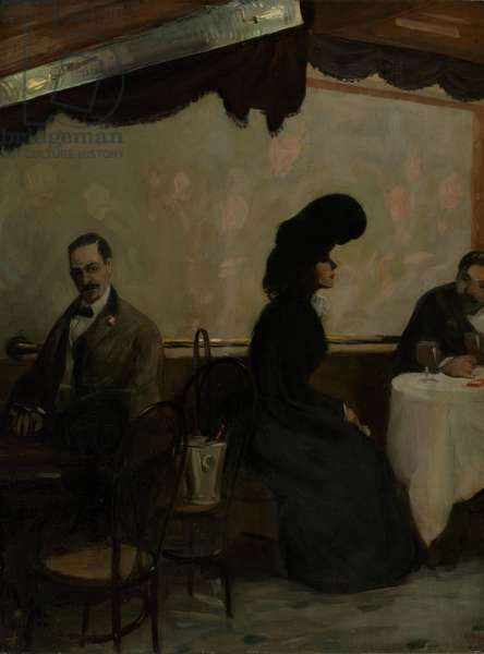 The Rathskeller, 1901 (oil on canvas)