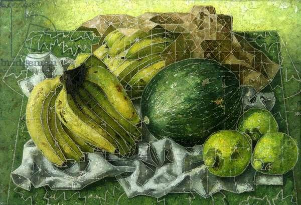 Still Life Fruit (oil on board)