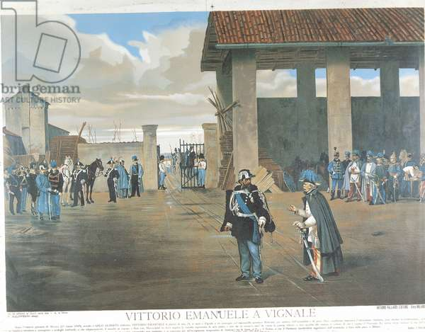 First War of Independence, Meeting in Vignale, Novara between Victor Emmanuel II and Marshal Joseph Radetzky, 24 March 1849
