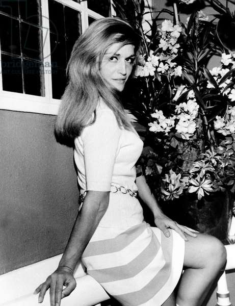 French singer Dalida, end 1960s