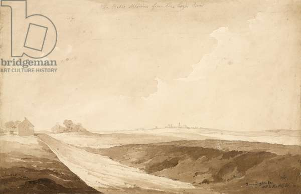 'No 7 La Belle Alliance from the high Road', 1815 (w/c & pencil on paper)