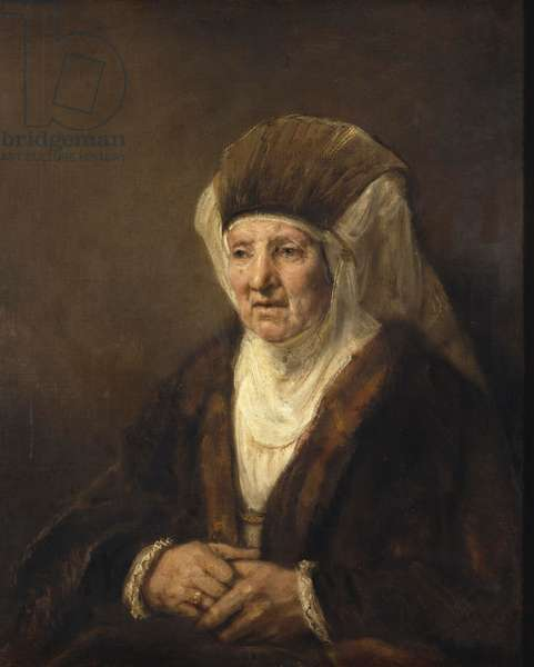 Portrait of an Old Woman, 1655 (oil on canvas)