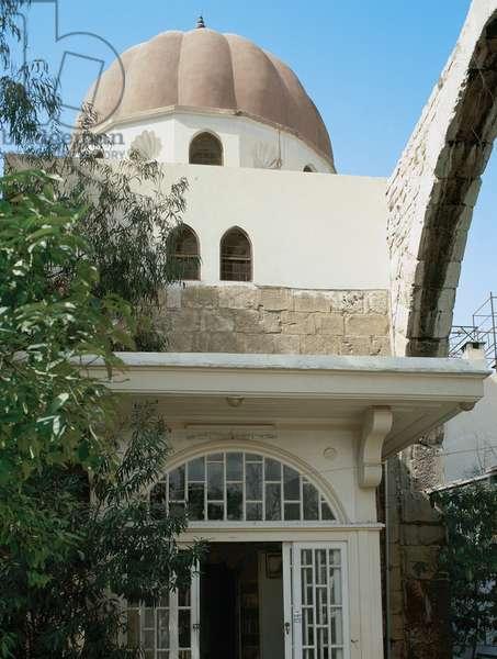 Mausoleum of Saladin (1138-1193). Built in 1196. Entrance. Umayyad Mosque. Damascus. Syria.