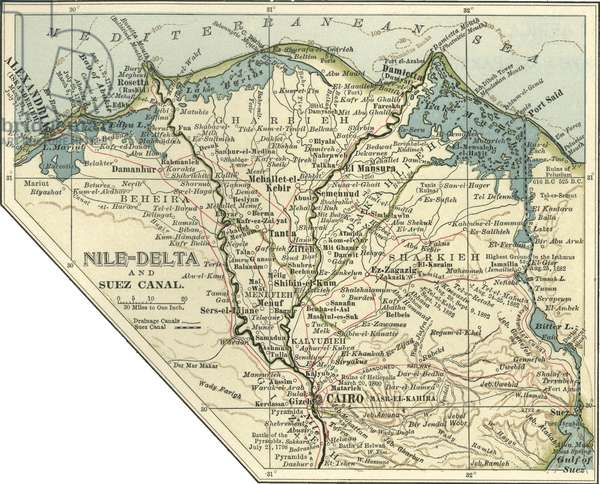 Map of the Nile Delta and Suez Canal