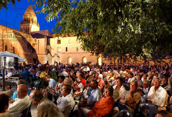 Audience from an open-air concert