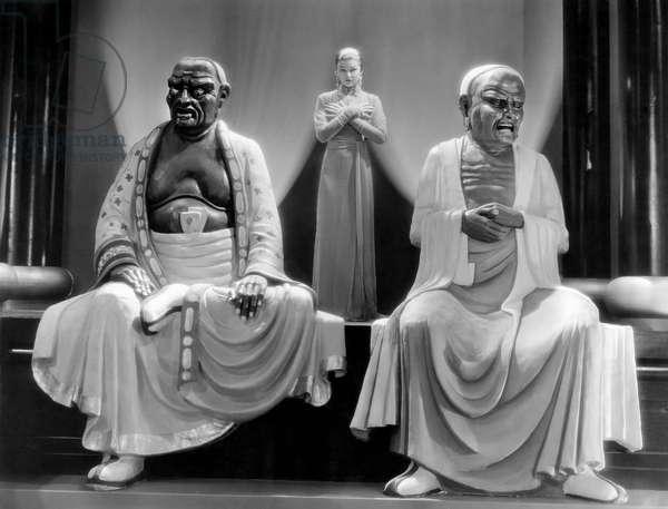Myrna Loy, on-set of the Film,