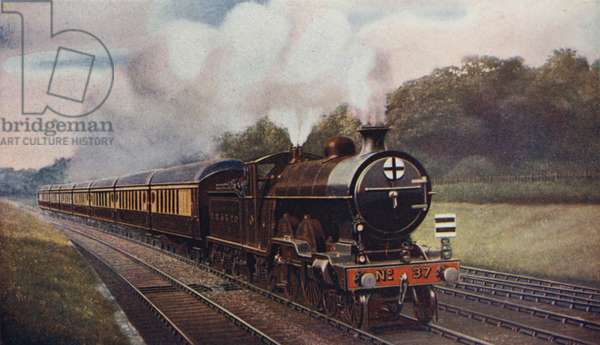 The Southern Belle, A chain of vestibuled luxury, London, Brighton and South Coast Railway (colour litho)