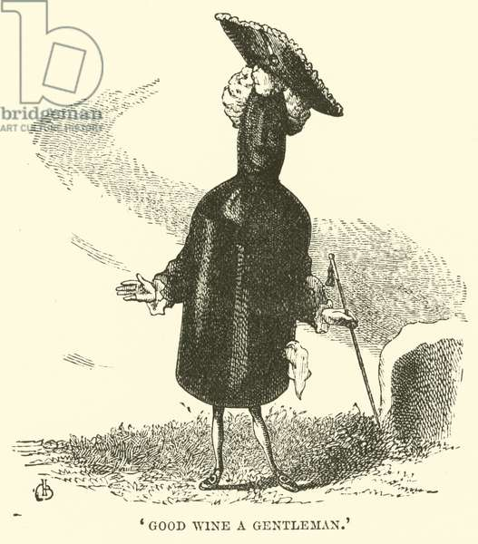 'Good Wine a Gentleman' (engraving)