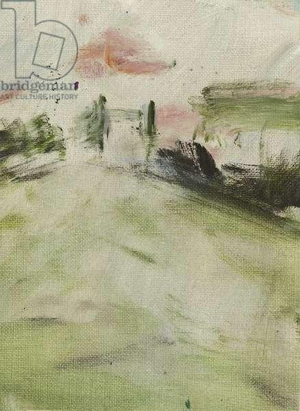 Towards Tower Bridge, 2014, (oil on canvas)