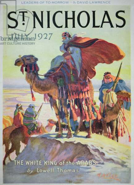 Front cover of St. Nicholas magazine, July 1927 (colour litho)