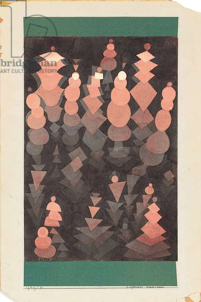 Ripening Growth, 1921 (w/c & pencil on paper and collage on board)