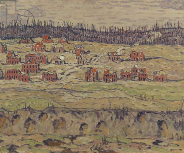 Riaumont, 1918 (oil on canvas)