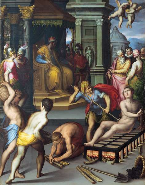 The Martyrdom of St. Lawrence, 1587 (oil on panel)