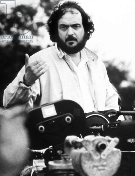 Stanley Kubrick on set of Barry Lyndon 1975 - director Stanley Kubrick on set of Barry Lyndon 1975