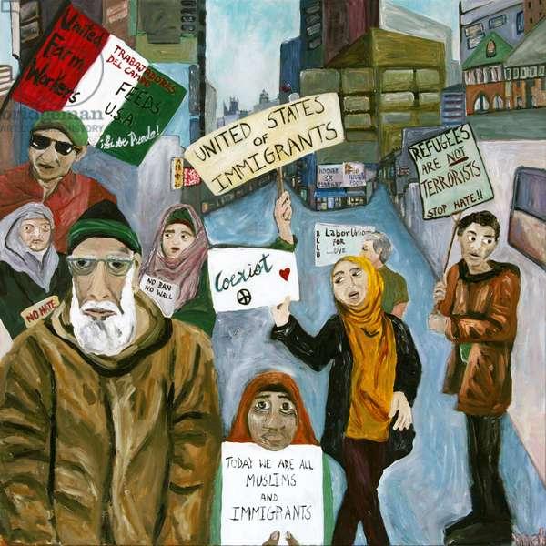 Resist 2, 2017, (acrylic on canvas)