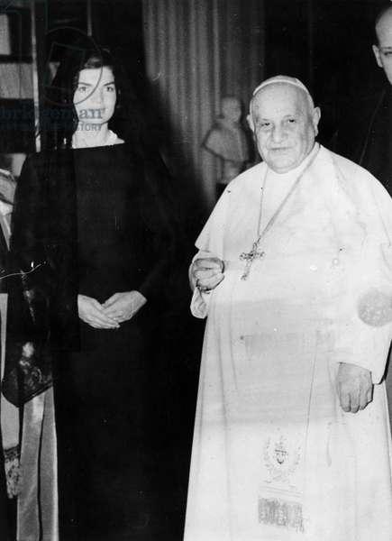 Rome March 11, 1962 Pope John XXIII receives in audience Jacqueline Kennedy