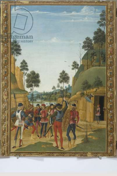 Saint Bernardino appearing to a prisoner freeing him, 1473 (tempera on board)