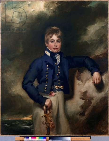 Three-quarter length portrait of John Windham Dalling RN, as a midshipman (oil on canvas)