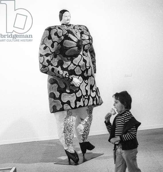 Exhibition of Niki de Saint-Phalle at the Centre Georges Pompidou in Paris, July 3, 1980