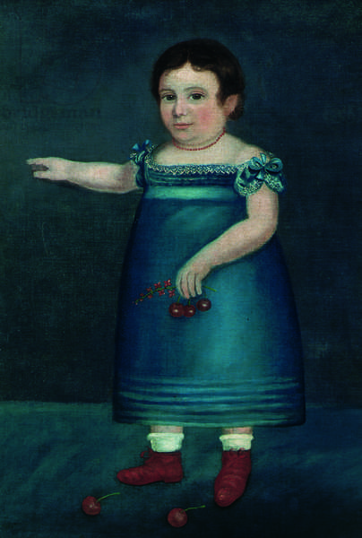 Girl with Cherries, c.1820 (oil on canvas)