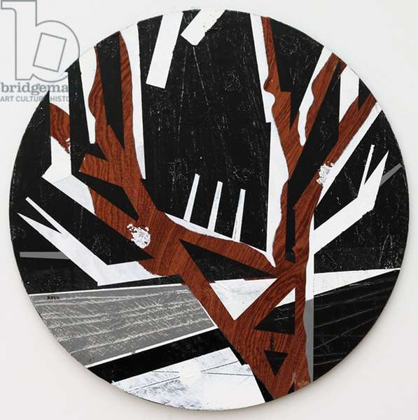 Twixt Heaven & Earth XVIII-B (acrylic on circular board)