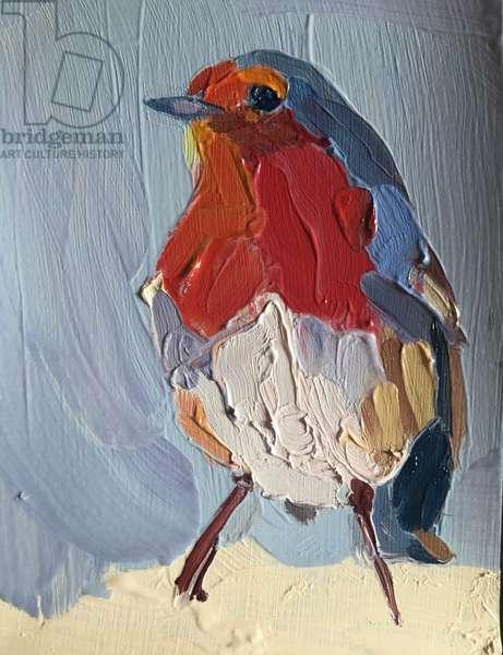 robin, 2016, (oil on paper)