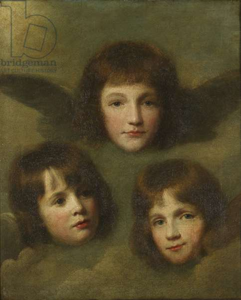 The Three Daughters of The Reverend Sir Herbert Croft, as cherubim, c.1780 (oil on canvas)