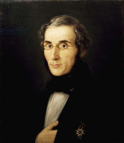 Portrait of architect Eugenio de Capitani, by Giuseppe Carsana (1827-1889), oil on canvas, 46x55 cm, 1851