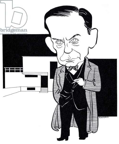 Walter Gropius, caricature