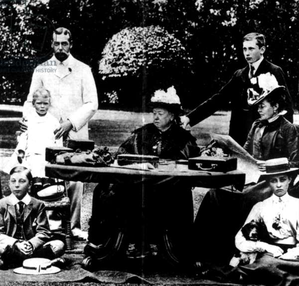 Queen Victoria and family members