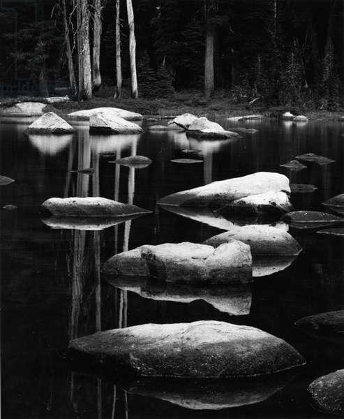 Rock and Water, High Sierra, 1972 (silver gelatin print)
