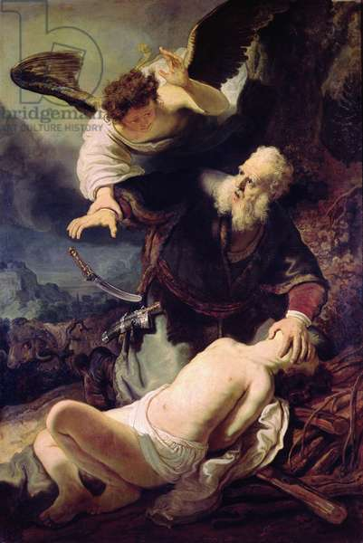 The Angel Stopping Abraham from Sacrificing Isaac, 1636 (oil on canvas)