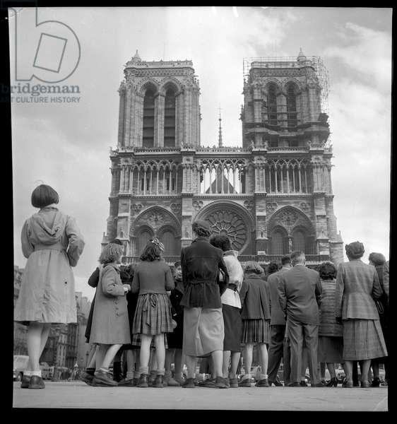 Springtime at Notre Dame de Paris, 1952