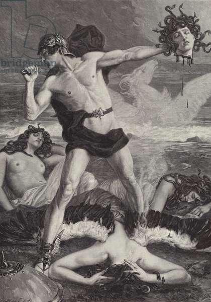 Perseus Schlagt der Medusa das Haupt auf (engraving)