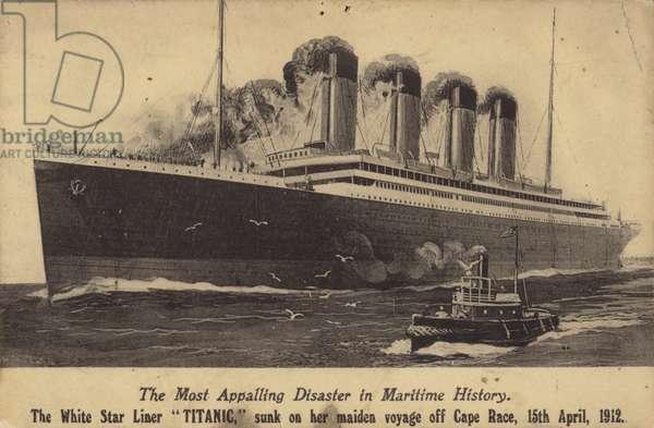 White Star Line liner RMS Titanic (litho)