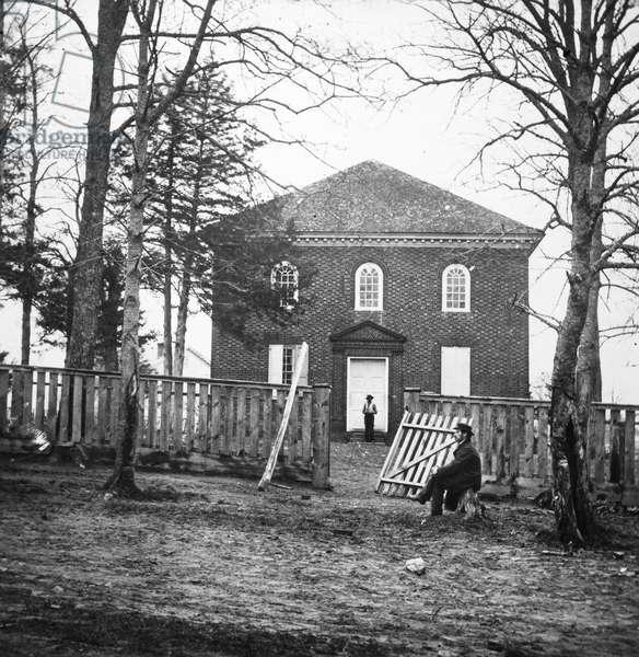 BRADY: FALLS CHURCH, 1862 Falls Church, Virginia, photographed by Mathew Brady during the American Civil War.