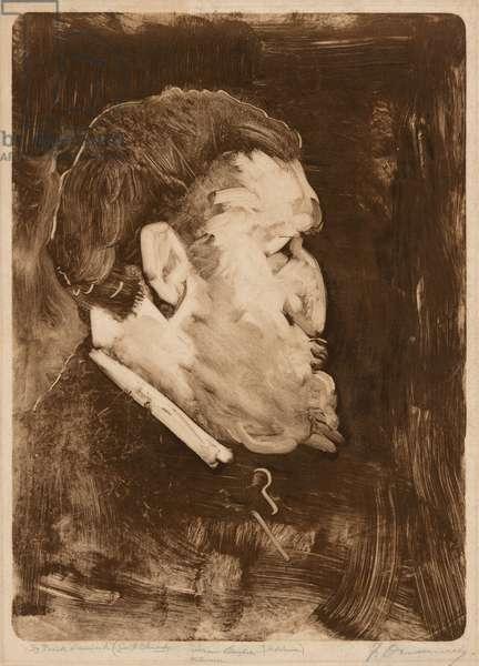 Caricature of William Gedney Bunce, 1883-84 (monotype)
