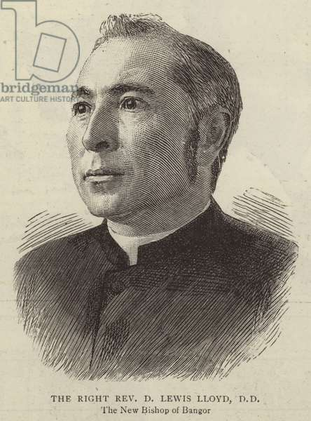 The Right Reverend D Lewis Lloyd, DD (engraving)