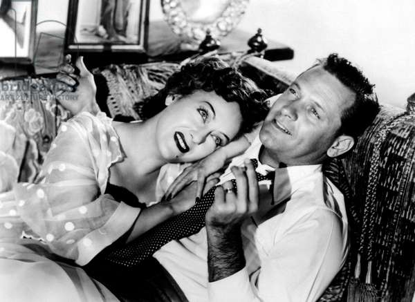 Sunset Boulevard directed by Billy Wilder starring Gloria Swanson and William Holden,  1950 (b/w photo)