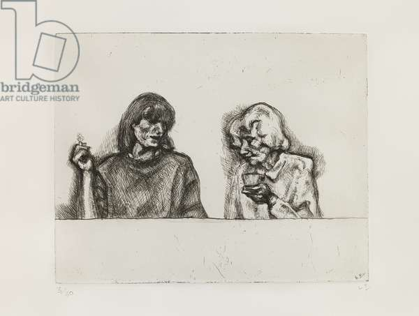 Conversation, 1998 (etching on paper)