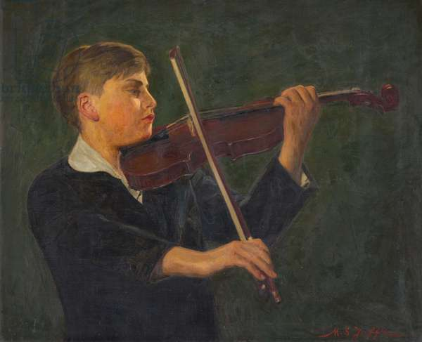 Yehudi Menuhin,  (1916-1999), 1932 (oil on canvas)