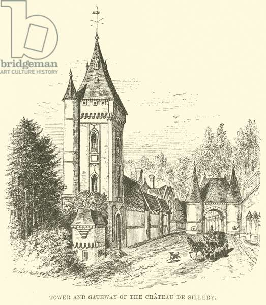 Tower and Gateway of the Chateau de Sillery (engraving)