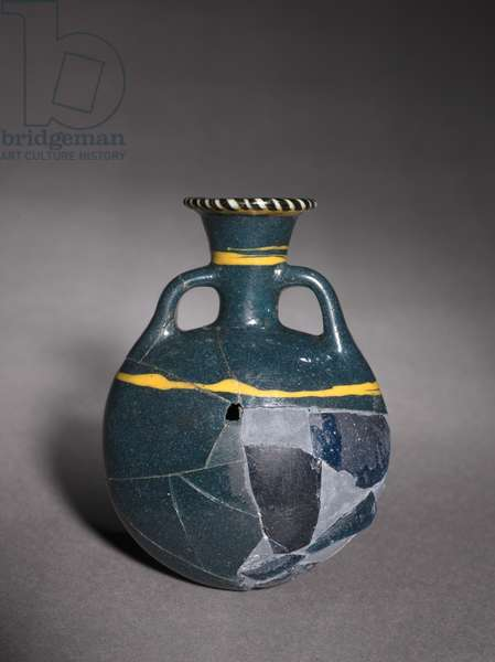 Lentoid Flask, or Pilgrim Flask, Late 18th to 19th Dynasty, c.1336-1186 BC (glass)