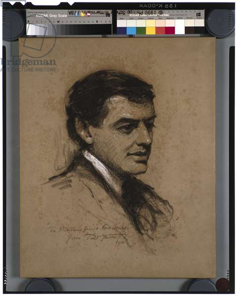 Portrait of Arthur Putnam, 1912 (charcoal on paper)