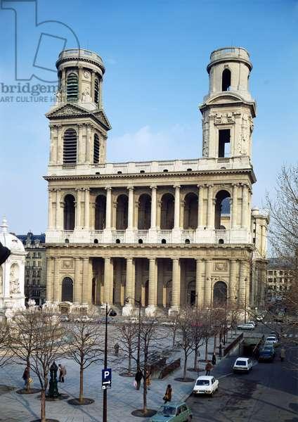 Facade of the Church of Saint-Sulpice, Paris (photo)