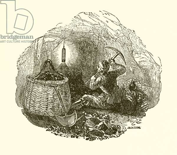 Davy's Safety Lamp (engraving)