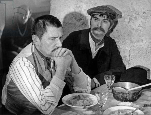 Maurice Barrier and Pierre Vassiliu on Set of Tvmovie