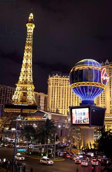 The Eiffel tower in Las Vegas