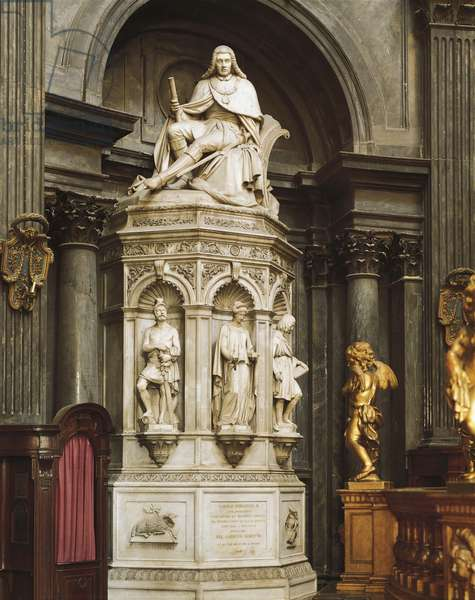 Statue of Carlo Emanuele II, Chapel of Holy Shroud, Turin, Italy, 18th century